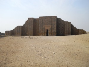 Entrance to the complex of Djoser in Saqqara