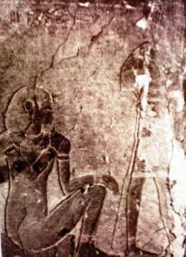Neb-Heru and Hery-maat, represented in the funerary from the tomb of Paraherunemef