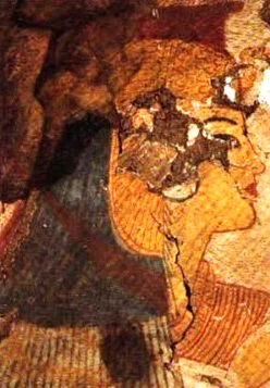 The image of the queen from funerary chamber of the tomb of Paraherunemef